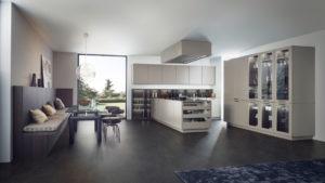 Большая кухня в современном стиле