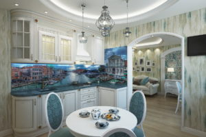 Классическая кухня в венецианском стиле