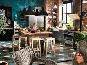 Кухня из дерева эклектичный стиль