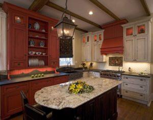 Кухня из дерева в китайском стиле