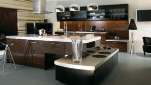 Кухня из дерева в стиле минимализм
