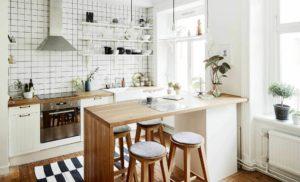 кухня из массива дерева в скандинавском стиле