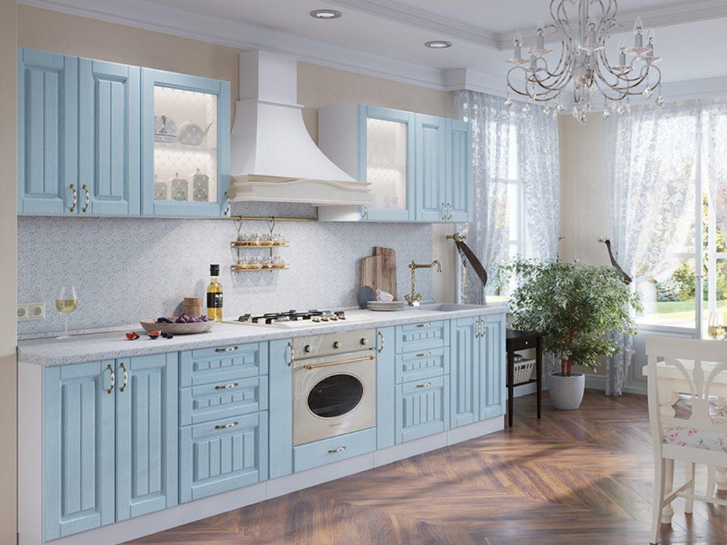 Кухня прован в голубом стиле