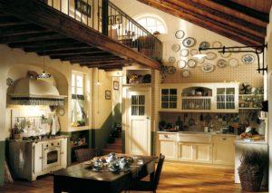 Кухня в английском стиле для дома