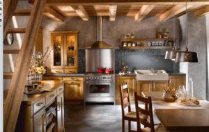 Кухня в эко-стиле из дерева