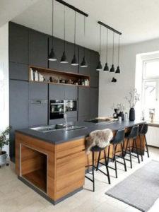 Кухня в квартиру в стиле минимализм