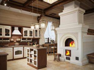 Кухня в русском стиле для дома