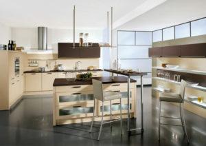 Кухня в современном стиле кафе