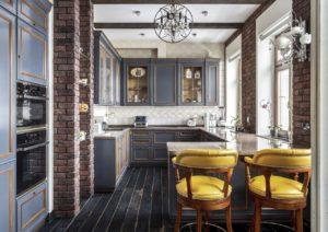 Кухня в стиле гранж с элементами состаренности