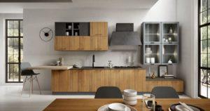 Кухня Хай-тек из натурального дерева