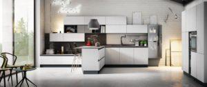 Кухня Хай-тек монохромные цвета