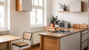 Простая кухня в стиле минимализм