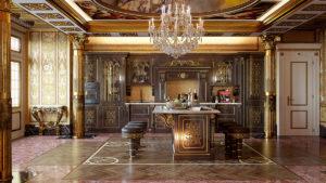 Шикарная кухня в стиле барокко