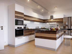Шикарная кухня в стиле минимализм