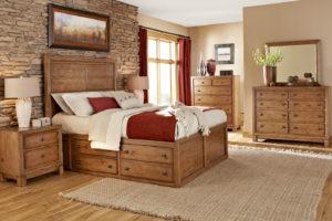 Спальня из дерева рустик