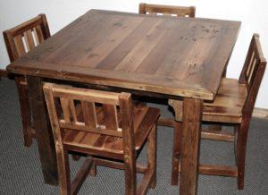 Столик и стулья для кафе клеенный брус