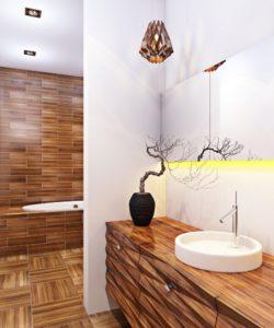 Ванная комната дизайн под дерево