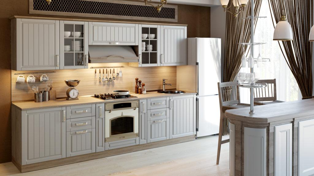 Вид кухни в стиле прованс