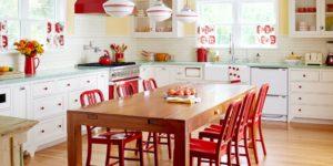 Яркая кухня в стиле ретро