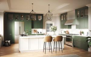 Зеленая кухня эко-стиль