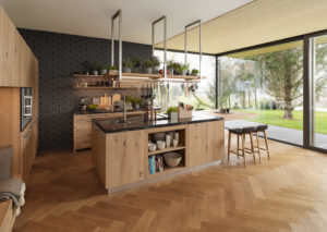 Деревянная мебель для кухни лофт