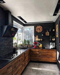 Дизайн кухни из дерева стиль лофт