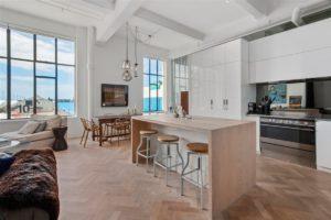 Дизайн кухни лофт для квартиры
