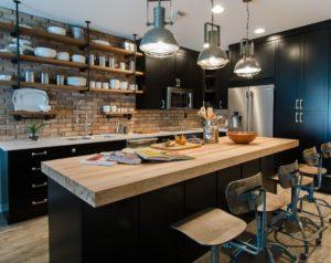 Индустриальный дизайн кухни в стиле лофт