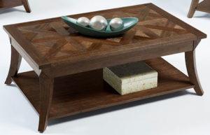 Коктейльный столик из темного тополя