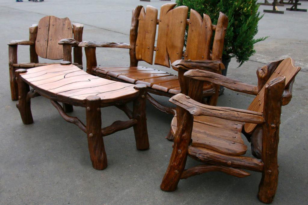 Комплект садовой мебели из дуба