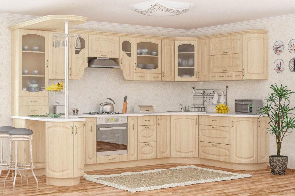 Кухня из березы