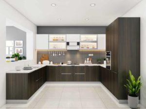 Модульная кухня в стиле лофт