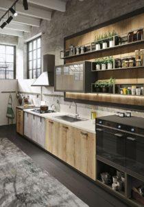 Стиль деревянной мебели лофт