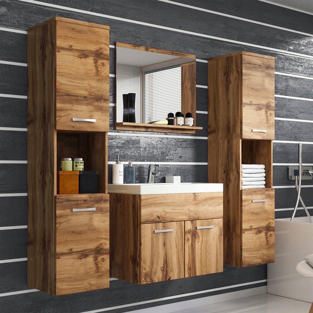 Ванная комната с подвесной мебелью