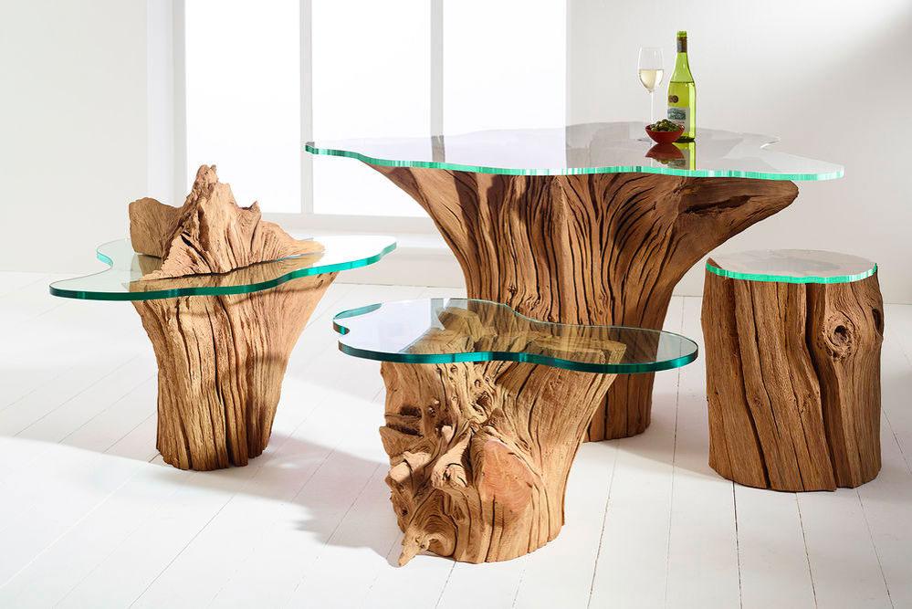 Набор мебели из пней