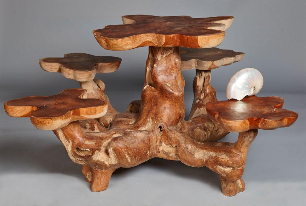 Столик и стулья из коряги