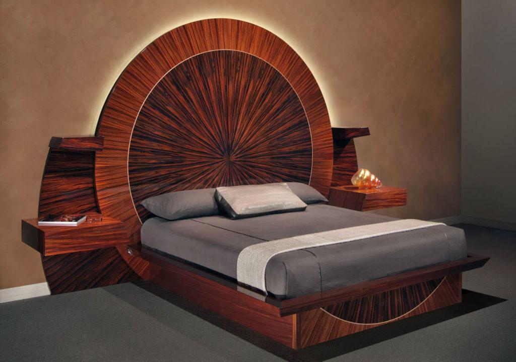 кровать с LED подсветкой изголовья
