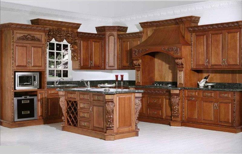 Мебель для кухни с резьбой по дереву